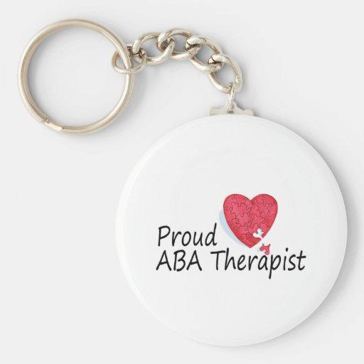 Terapeutas orgullosos del ABA (corazón) Llaveros