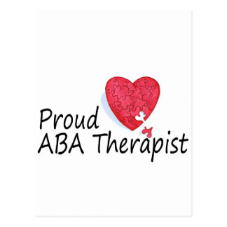 Terapeutas orgullosos del ABA (corazón) Postal
