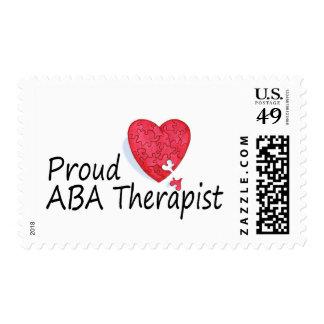Terapeutas orgullosos del ABA (corazón) Sello
