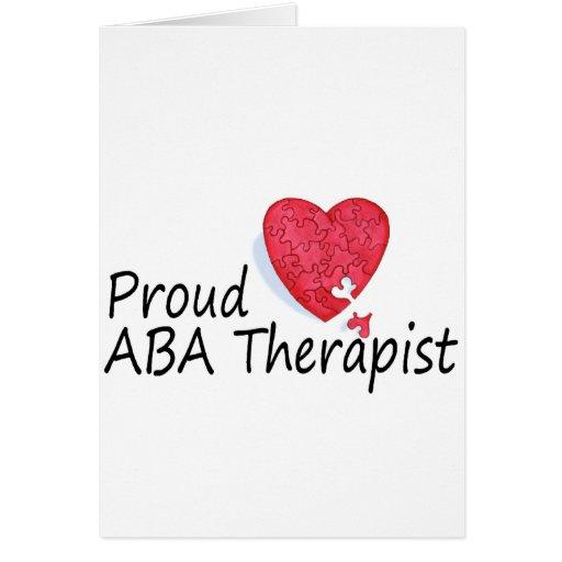 Terapeutas orgullosos del ABA (corazón) Felicitacion