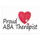 Terapeutas orgullosos del ABA (corazón) Tarjeta Postal
