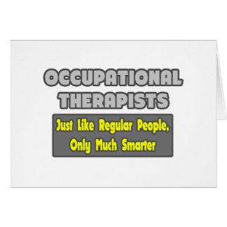 Terapeutas profesionales… más elegantes tarjeta de felicitación