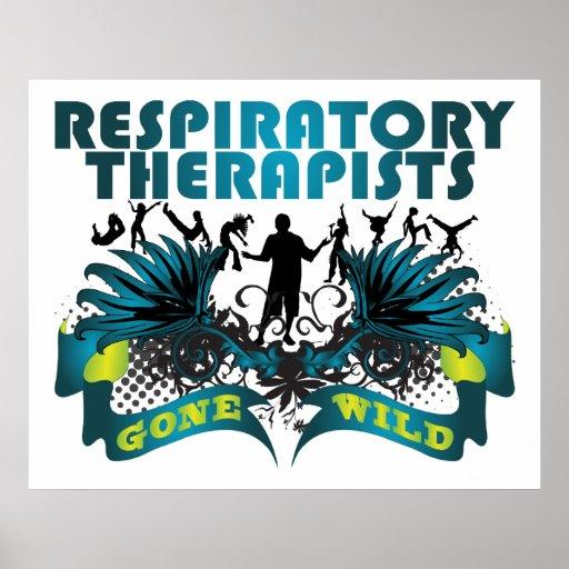 Terapeutas respiratorios idos salvajes posters