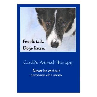Terapia animal tarjetas de visita grandes
