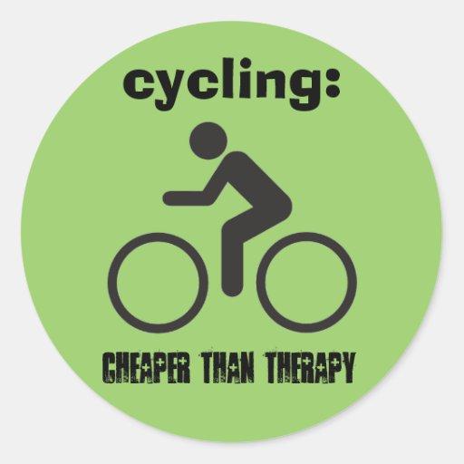 terapia biking pegatina redonda
