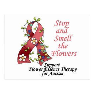 Terapia de la flor para el autismo tarjeta postal