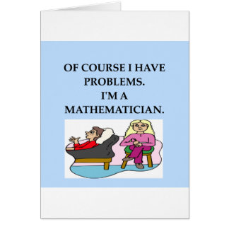 terapia de la matemáticas tarjeta de felicitación