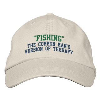 Terapia de la pesca gorras bordadas