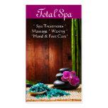 Terapia de la tarjeta de visita del salón del masa