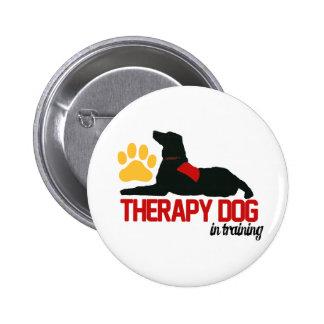Terapia (de la terapia) en botón del entrenamiento