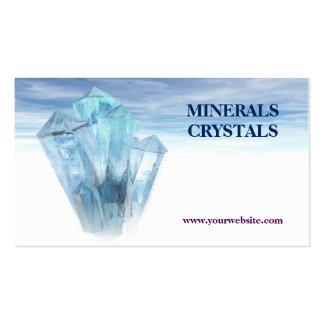 terapia de la tienda de los minerales de los tarjetas de visita