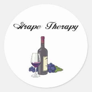Terapia de la uva pegatina redonda
