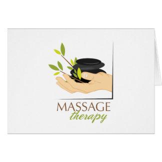 Terapia de piedra caliente tarjeta de felicitación