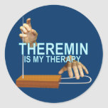 Terapia de Theremin Etiqueta Redonda