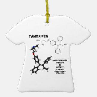 Terapia del Anti-Estrógeno del Tamoxifen en cáncer Ornamento Para Arbol De Navidad