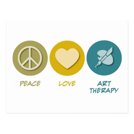 Terapia del arte del amor de la paz postal