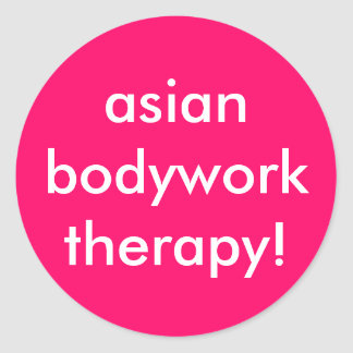 ¡terapia del asianbodywork! pegatina redonda