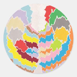 Terapia del color - surtidos multicolores del arco etiqueta