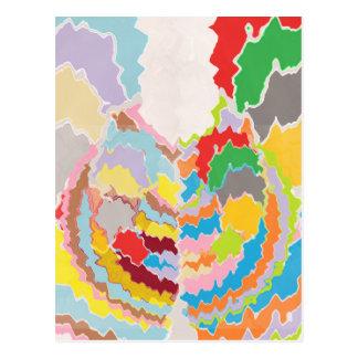Terapia del color - surtidos multicolores del arco tarjetas postales