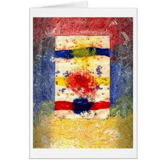Terapia del color tarjeta de felicitación