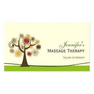 Terapia del masaje - árbol de la vida elegante tarjetas de visita