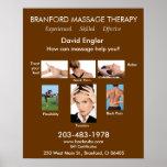 Terapia del masaje de Branford - experimentada - e Posters