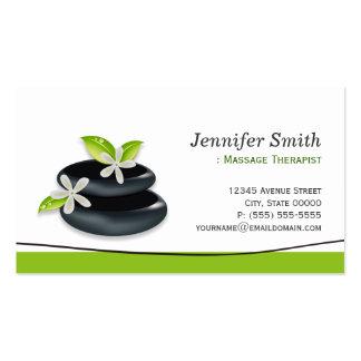 Terapia del masaje - logotipo elegante de los tarjetas de visita