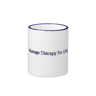 Terapia del masaje para la taza de la vida