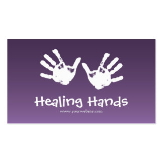 Terapia del masaje - púrpura tarjetas de visita