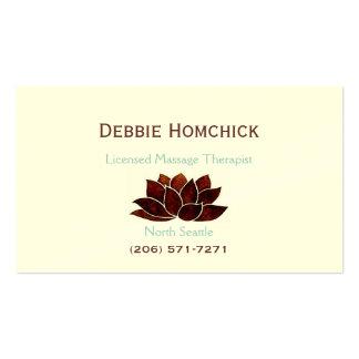 Terapia del masaje plantilla de tarjeta de visita