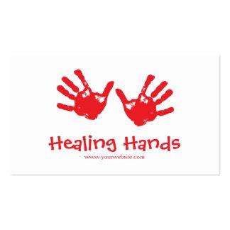 Terapia del masaje tarjetas de visita