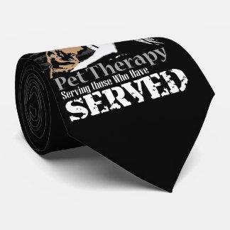 Terapia del mascota para PTSD Corbata Personalizada