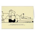 Terapia del perro tarjeta de felicitación