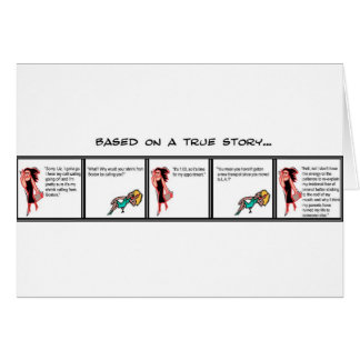 Terapia del teléfono tarjeta de felicitación
