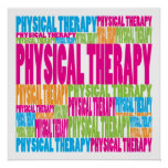 Terapia física colorida impresiones