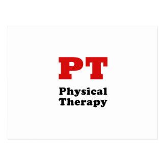 Terapia física de la pinta tarjetas postales