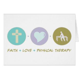 Terapia física del amor de la fe felicitacion