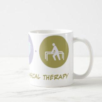 Terapia física del amor de la fe taza
