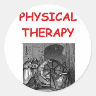 terapia física pegatina redonda