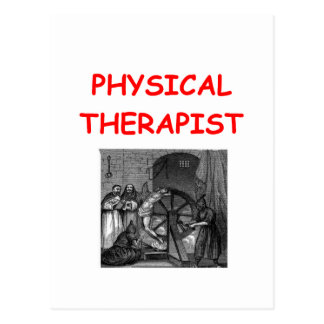 terapia física tarjeta postal