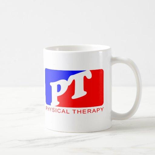 Terapia física taza básica blanca