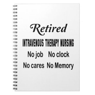 Terapia intravenosa jubilada que no cuida ningún libreta