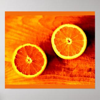 Terapia-Naranja 102 del Poster-Color Póster