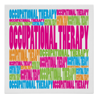 Terapia profesional colorida poster