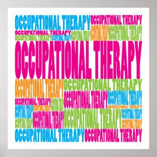 Terapia profesional colorida póster