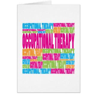 Terapia profesional colorida tarjeta de felicitación