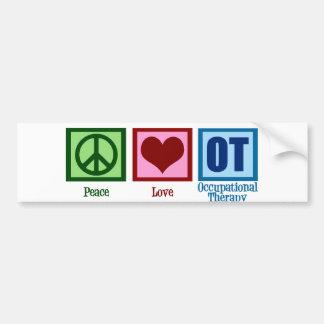 Terapia profesional del amor de la paz pegatina para auto