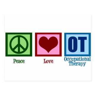 Terapia profesional del amor de la paz postal