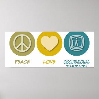 Terapia profesional del amor de la paz póster