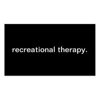 Terapia recreativa tarjetas de visita